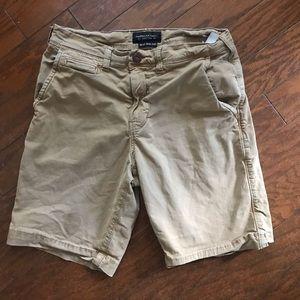 American Eagle Outfitters Men's Khaki Shorts